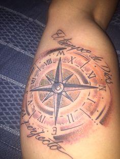 Compass-watch tatto el tiempo de dios es perfecto