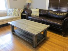 Rustic X Coffee Table | Do It Yourself Home Projects from Ana White add l brackets to the corners