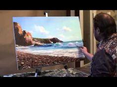 Tutoriel vidéo complet sur peinture. Peindre mer Peindre goéland Peindre un paysage marine à l'huile - YouTube