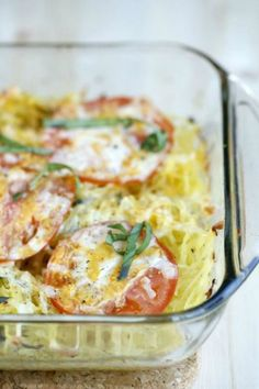 21 Day Fix: Caprese Spaghetti Squash Bake by The Fit Housewife