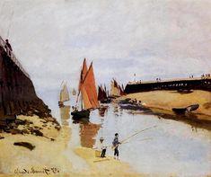 Fishing Boats, Calm Sea - Claude Monet - WikiArt.org