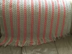 Arrow Stitch Crochet Afghan Pattern
