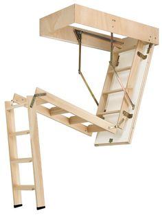 Escalera escamoteable 3 tramos modelo cadet 3 iso
