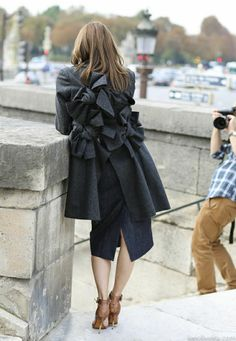 Incredibly detailed coat with brown heels