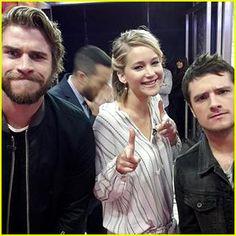 Hunger Games' Trio Jennifer Lawrence, Liam Hemsworth, & Josh ...