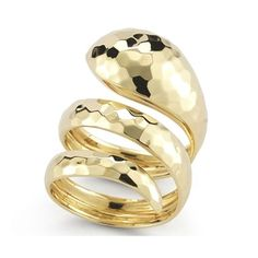 Roberto Coin Martellato Yellow Gold Snake Ring   King Jewelers
