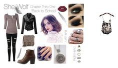 """""""She Wolf Chapter Thirty One - First Day Back"""" by vcarp1993 ❤ liked on Polyvore featuring Lottie, Miss Selfridge, Charlotte Russe, Forever 21, Patricia Nash and Lime Crime"""