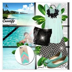 """Casetify.com I/6"" by amra-softic ❤ liked on Polyvore featuring Zimmermann, Chicnova Fashion, Rip Curl, Ollio, Bally and Casetify"