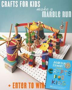 Have you seen Martha Stewart's new book, Crafts For Kids? It's 175 creative and colorful projects (from easy to a bit more involved like this one) to keep your kiddos excited and entertained. For instance, this peg-board marble run. My boys can't wait to give this craft a try. They've already raided my craft room and …