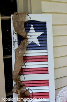 Easy DIY tutorial ideas for Patriotic Crafts and Projects for Memorial Day, Independence Day, and Veteran's Day! Patriotic Crafts, July Crafts, Summer Crafts, Holiday Crafts, Americana Crafts, Country Crafts, Summer Diy, Kids Crafts, Holiday Ideas