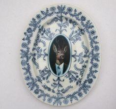 Uncle Buck - Altered Antique Plate, Serving Platter. #PinToWin #AnthropologieEU
