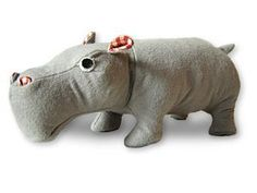 Free Felt Hippo Plush Softie Sewing Pattern and Tutorial
