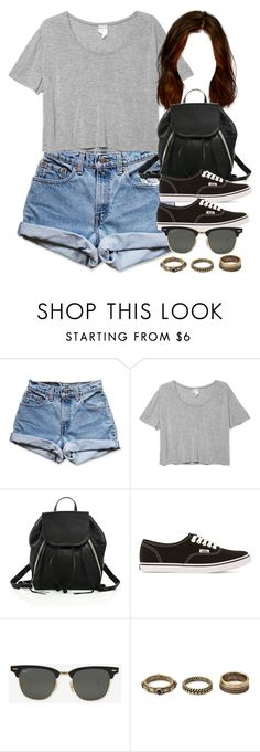 """Style #10558"" by vany-alvarado ❤ liked on Polyvore featuring Levi's, Monki, Rebecca Minkoff, Vans, Ray-Ban and Forever 21"
