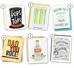6 Card Ideas for Father's Day