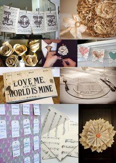 Sheet Music Wedding Ideas from The Wedding Community wedding-mood-boards Sheet Music Decor, Sheet Music Wedding, Old Sheet Music, Wedding Themes, Diy Wedding, Dream Wedding, Wedding Ideas, Rustic Wedding, Wedding Inspiration