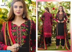 AMAIRA NX EXPORT EMBROIDERED COLLECTION SUITS Catalog pieces: 4 Full Catalog Price: 4700 Price Per piece: 1175 MOQ: Full catalog Shipping Time: 4-5 days Sizes: Semi Stich  fabrics Detail Top :- Fine Glace cotton print With embroidery  Bottom :- fine Glace cotton Dupatta :- pure chiffon #nicecollection  #goodmateriel  #awesomelook Call&Whatsapp;+917405434651 website link :-http://textiledeal.in/wholesale-product/4614/Amaira-Nx-Export-Embroidered-Collection-Suits