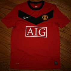 58ed96372 MANCHESTER UNITED AIG Nike Dri-Fit Jersey Shirt-Adult Small-Soccer football