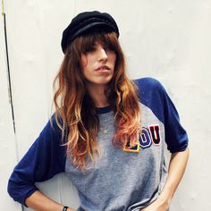 Lou Doillon in Aritzia Magazine (custom tee by Natalie Joos)