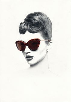 I like this illustration because it looks realistic and I like how the artist used the colours by defining the sun glasses