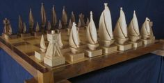 Custom Made Custom Carved Chess Sets, Chess Pieces, And Chess Tables