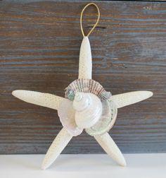 White Finger Starfish Collage Seashell Ornament, $7.00 (http://www.caseashells.com/white-star-collage-ornament/)