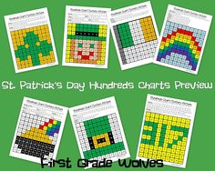 First Grade Wolves: Presidents' Day Freebie and St. Patrick's Day Mystery Pictures
