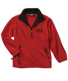 Charles River Apparel Quarter Zip Fleece Pullover with Monogramming - Fleece Pullover - Monogrammed Pullover - Fleece Jacket