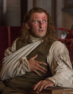 Ian (Steven Cree) is too injured to accompany Claire on her search for Jamie. However he does send word to Murtagh who soon catches up with the women.