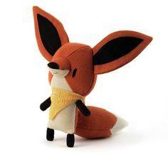 Cute tiny handmade plush dolls at Little Bellewoods on Etsy Fox Toys, Bird Toys, Fabric Animals, Plush Animals, Hello Kitty Birthday, Plush Pattern, Sewing Dolls, Soft Dolls, Soft Sculpture