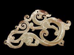 Dragon Plaque - ca. 3rd century B.C.E.  Eastern Zhou dynasty - Jade