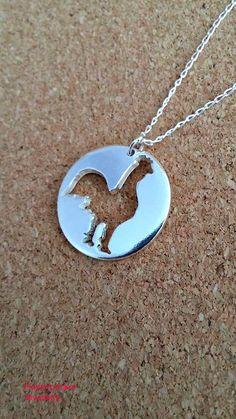 Rooster Sterling Silver Pendant Hen Silver by flowerpecker on Etsy