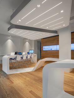 VZ-Desk by HI-MACS® #office #desk @HI-MACS Natural Acrylic Stone