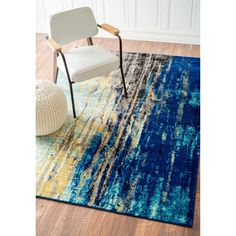 nuLOOM Modern Abstract Vintage Green Rug (5'3 x 7'9) - Overstock Shopping - Great Deals on Nuloom 5x8 - 6x9 Rugs