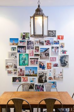 I did something similar in my old apartment, only my frames were mismatched. I loved it!