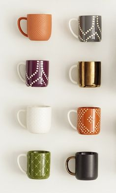 Color and pattern really wakes things up, and mugs like these will brighten any day—or any tabletop.