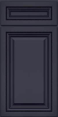 KraftMaid Cabinets -Square Raised Panel - Solid (ALM) Maple in Midnight w/ Onyx Glaze from waybuild