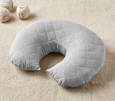 Gray Belgian Linen Boppy® Nursing & Infant Support Pillow & Slipcover | Pottery Barn Kids