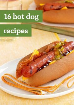 16 Hot Dog Recipes – Spruce up a summertime classic with these 16 Hot Dog Recipes. With how delicious, quick, and easy they are, you're sure to hit dinnertime out of the park!