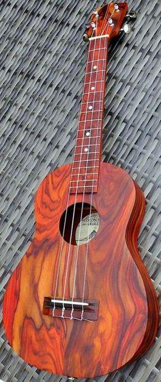 Cocobolo Ukuleles cocobolo rosewood Tenor --- https://www.pinterest.com/lardyfatboy/