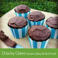 Our Grain, Dairy & Nut free Chocolate cupcakes