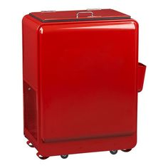 Retro Red Rolling Drink Cooler in Bar Accessories...