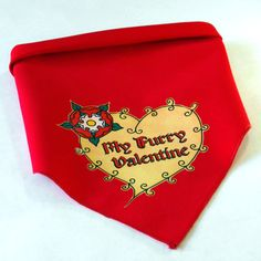 My Furry Valentine Dog Bandana  by doggydesign