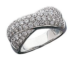 14K White Gold Pave Diamond Crossover Ring.    http://www.thediamondstore.com/products/diamond-and-fashion-color-rings/14k-white-gold-pave-diamond-crossover-band/16-936