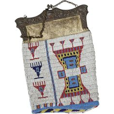 1890  Sioux Beaded Purse -- found at www.rubylane.com #vintagebeginshere