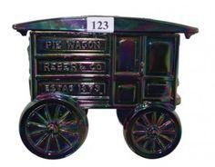 Fenton carnival glass Pie Wagon, circa 2005, $115.50.