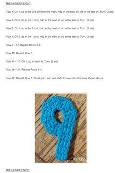 9 Crochet Numbers, Crochet Necklace, Crochet Collar