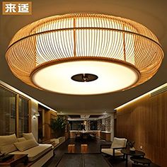 Cool Kreative japanischen Tatami koreanische Bambus Lampe Beleuchtung Wohnzimmer Esszimmer Schlafzimmer aus Holz Bambus Deckenleuchten led