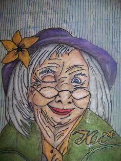 Sewing: Winking Granny is a on line class you can pay and watch over and over when needed love the coloring too