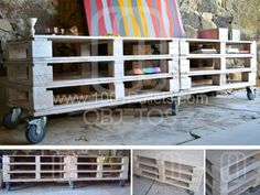 Pallets mobile TV Stand in pallet furniture with TV Stand Stand Recycled Pallets Wood Projects For Beginners, Scrap Wood Projects, Diy Pallet Projects, Recycled Pallets, Wood Pallets, 1001 Pallets, Pallet Wood, Diy Wood, Pallet Lounger