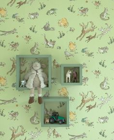 Menagerie wallpaper, £27 a roll, Osborne and Little